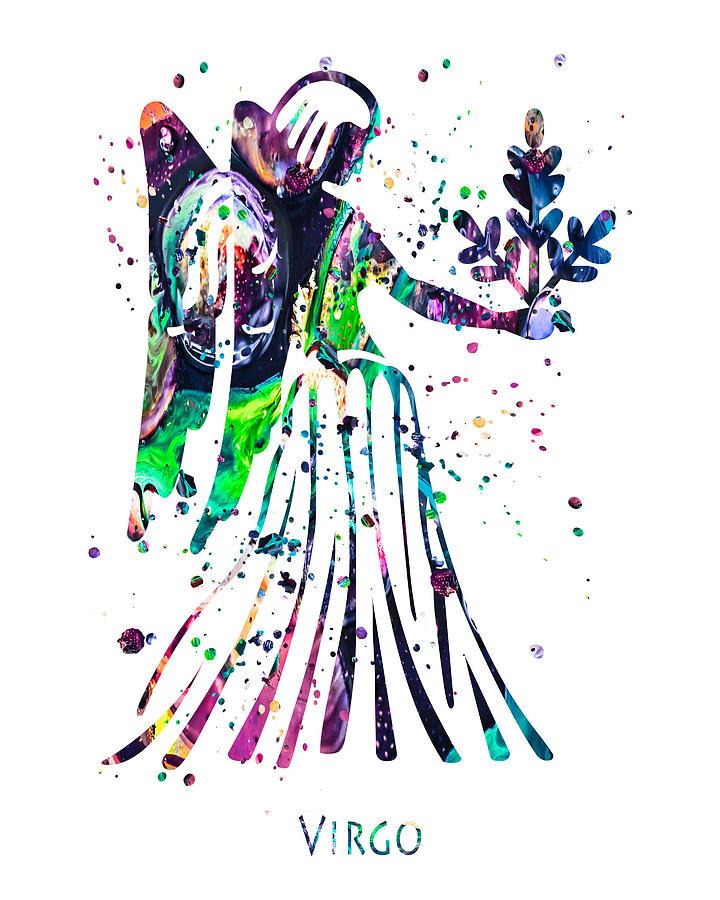 Virgo Painting - Virgo Zodizc Sign by Zuzi s