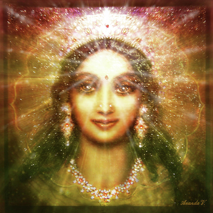 Goddess Painting Mixed Media - Vision Of The Goddess - Light by Ananda Vdovic