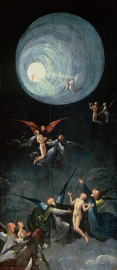 Ascent Of The Blessed Painting - Visions Of The Hereafter - Ascent Of The Blessed by Hieronymus Bosch