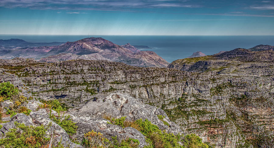 Vista From Atop Table Mountain, Cape Town by Marcy Wielfaert