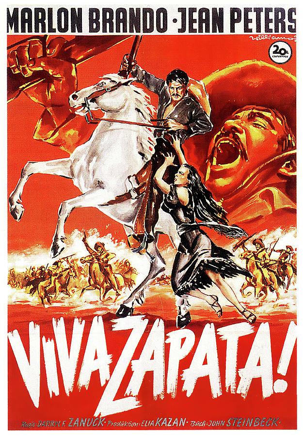viva Zapata 2, With Marlon Brando And Jean Peters, 1952 Mixed Media