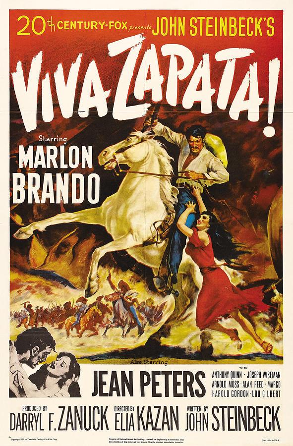 viva Zapata, With Marlon Brando And Jean Peters, 1952 Mixed Media