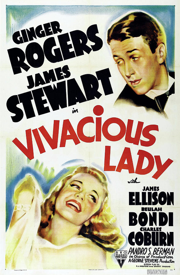 vivacious Lady 2, With Ginger Rogers And James Stewart, 1938 Mixed Media