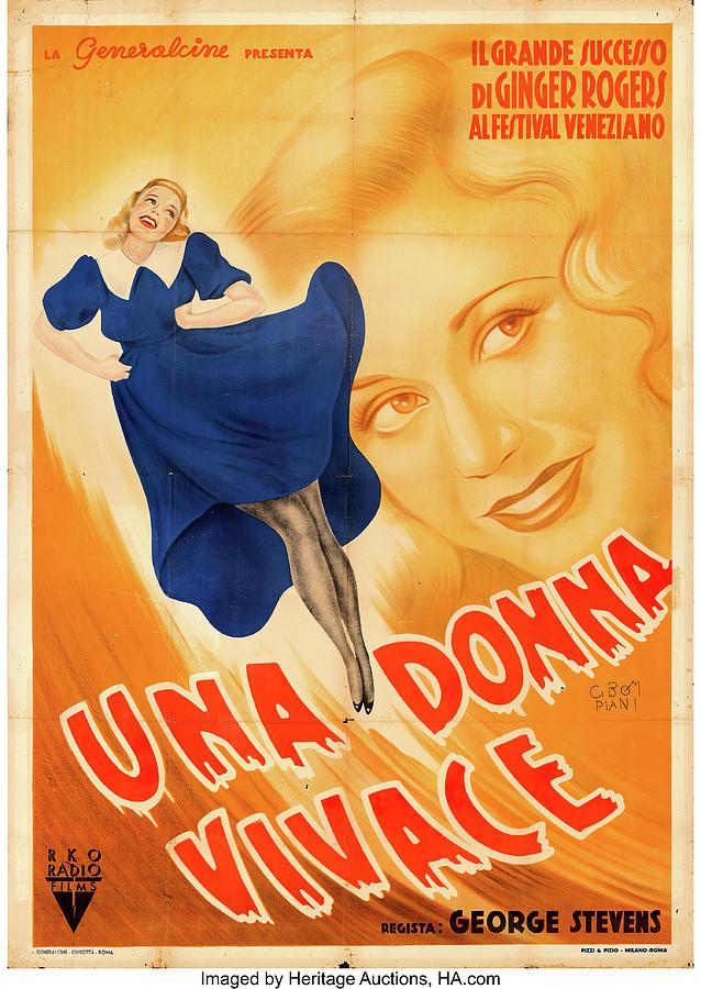vivacious Lady Poster 1938 Mixed Media