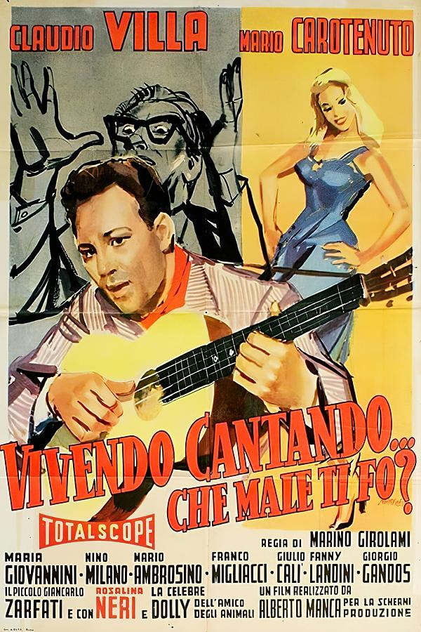 vivendo Cantando, With Claudio Villa, 1957 Mixed Media