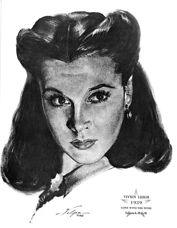 Vivien Leigh 2 By Volpe Drawing