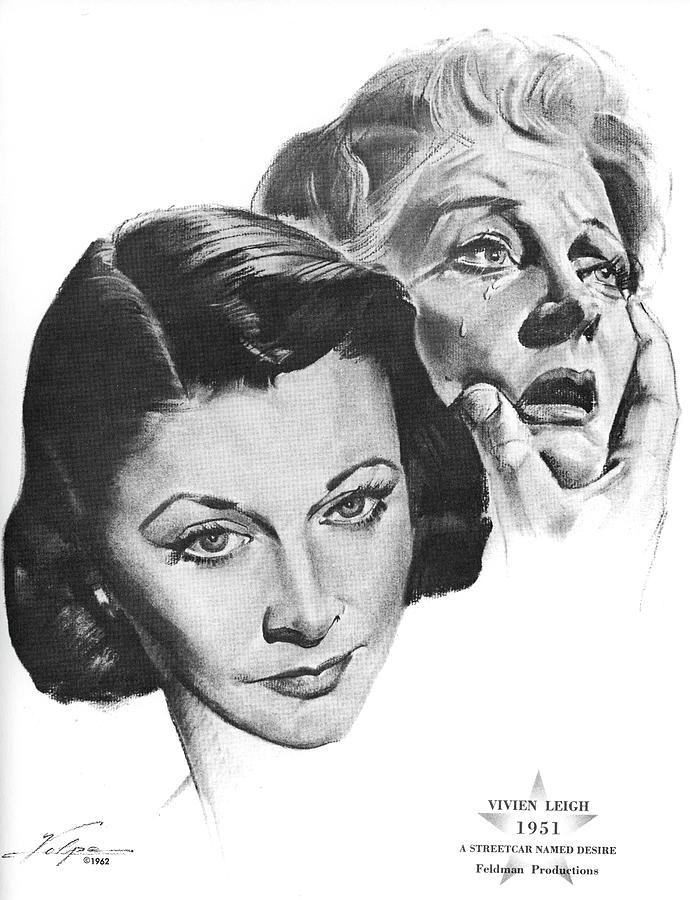 Vivien Leigh By Volpe Drawing