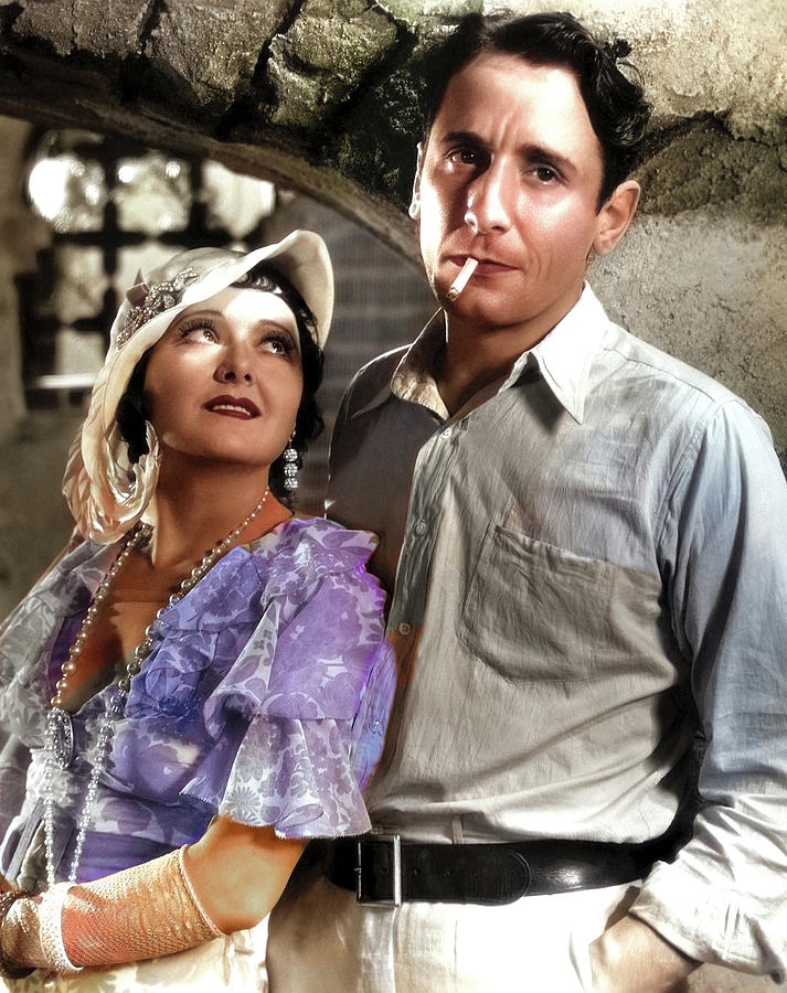 Victor Photograph - Vivienne Osborne and Victor Jory by Stars on Art