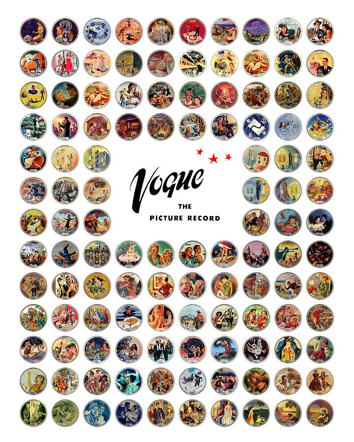 Vogue Digital Art - Complete Vogue Picture Records by John Robert Beck