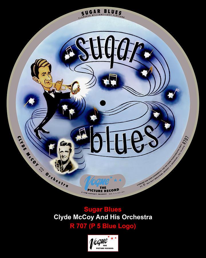 Vogue Digital Art - Vogue Record Art - R 707 - P 5, Blue Logo by John Robert Beck
