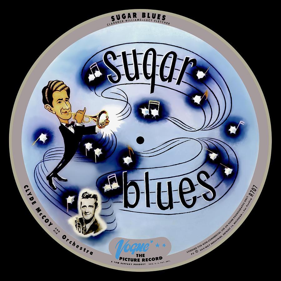 Vogue Digital Art - Vogue Record Art - R 707 - P 5, Blue Logo - Square Version by John Robert Beck