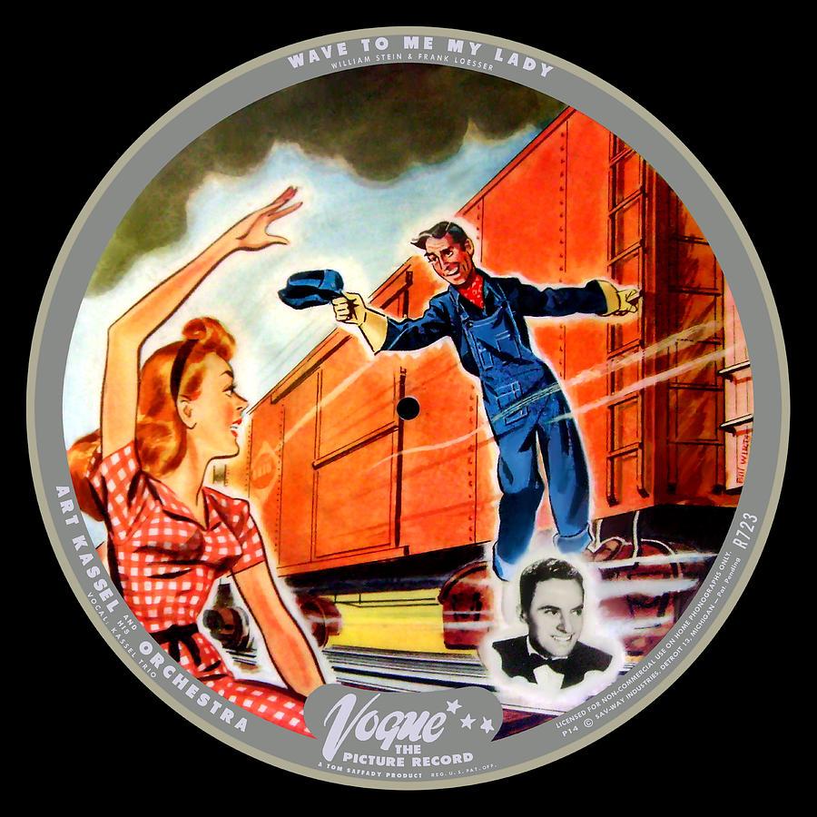 Vogue Digital Art - Vogue Record Art - R 723 - P 14 - Square Version by John Robert Beck