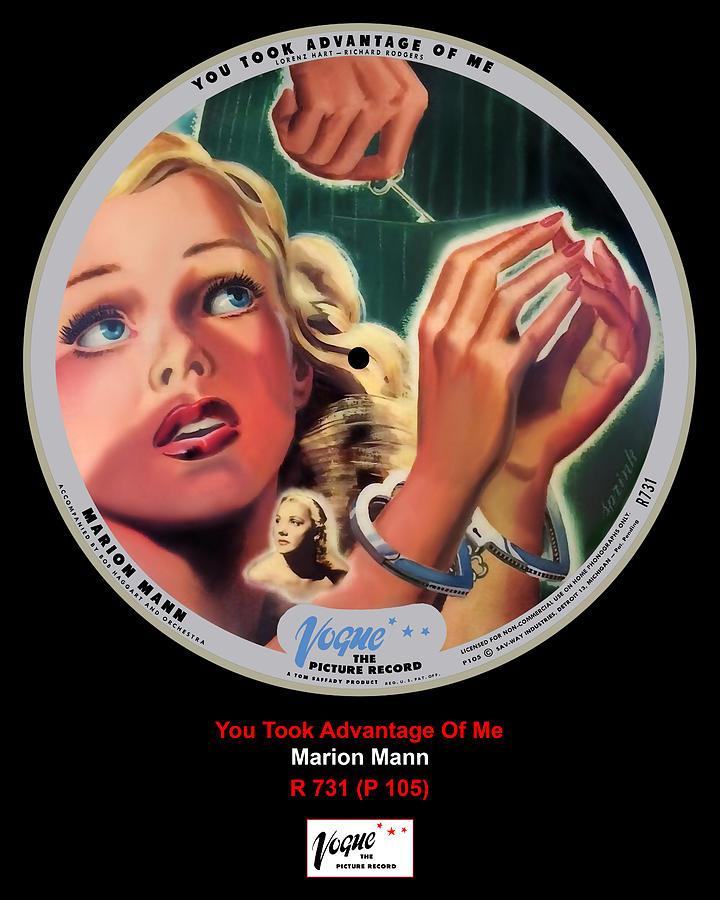 Vogue Digital Art - Vogue Record Art - R 731 - P 105 by John Robert Beck