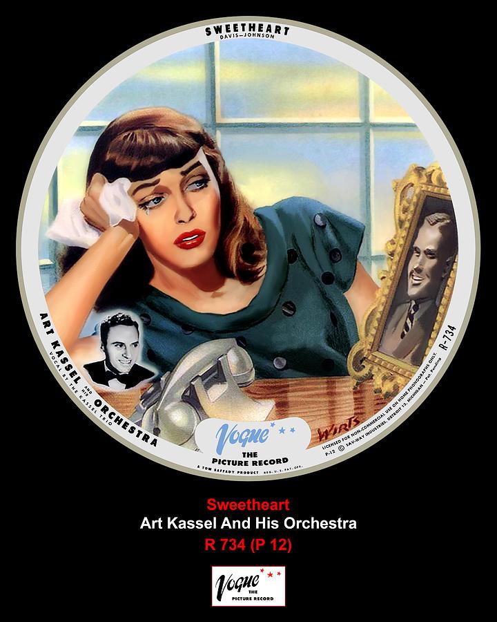 Vogue Digital Art - Vogue Record Art - R 734 - P 12 by John Robert Beck