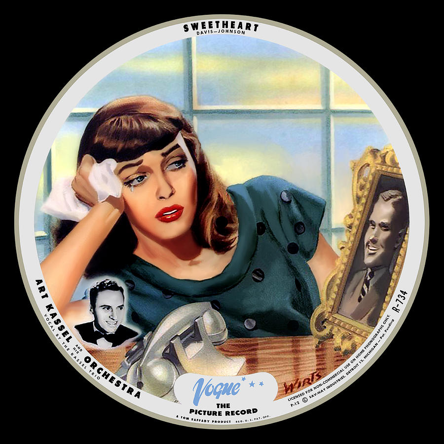 Vogue Digital Art - Vogue Record Art - R 734 - P 12 - Square Version by John Robert Beck