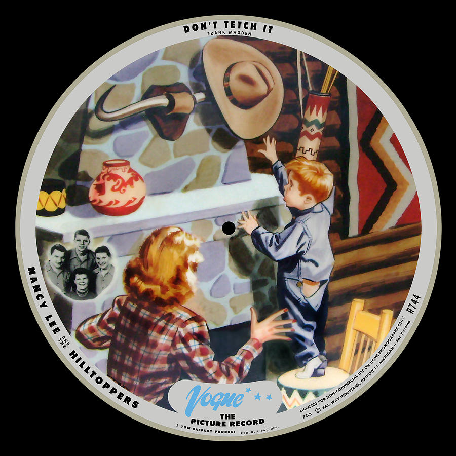 Vogue Digital Art - Vogue Record Art - R 744 - P 53 - Square Version by John Robert Beck