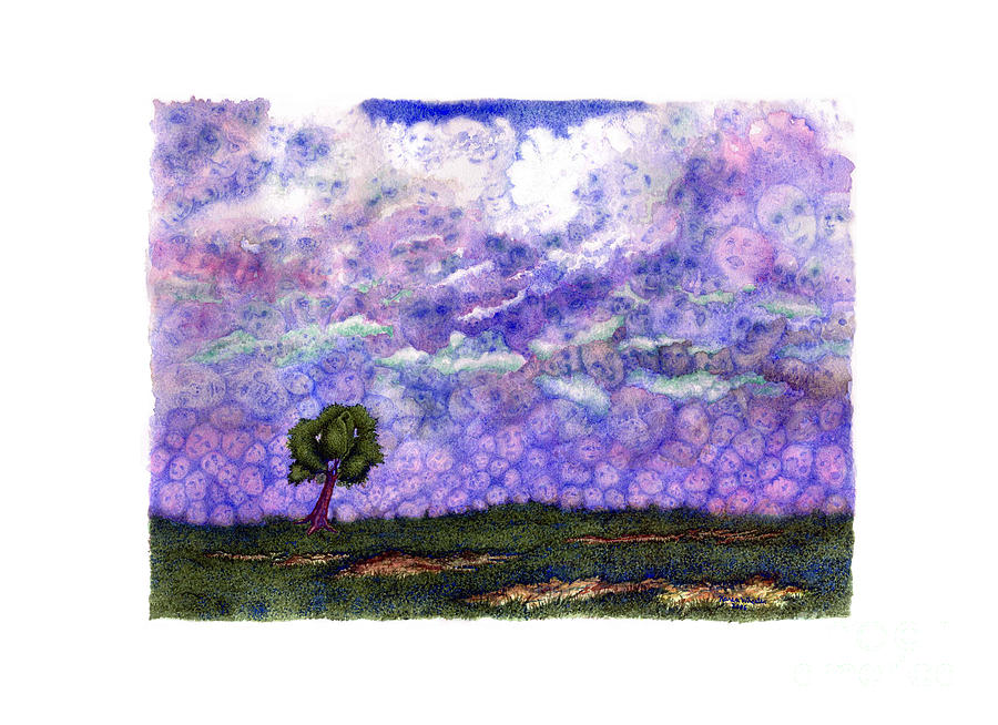Clouds Painting - Voices In The Sky by Karen Wheeler