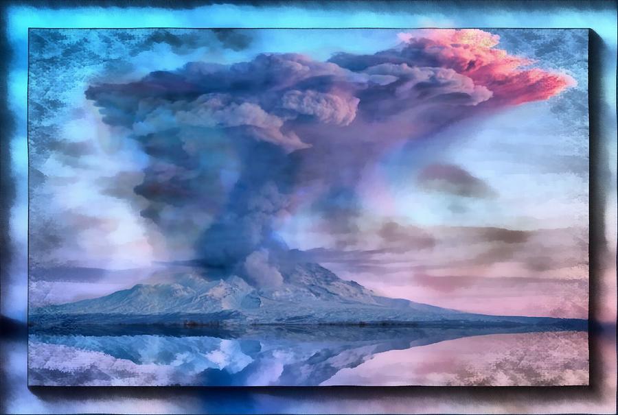 Volcanic  Reflection Mixed Media