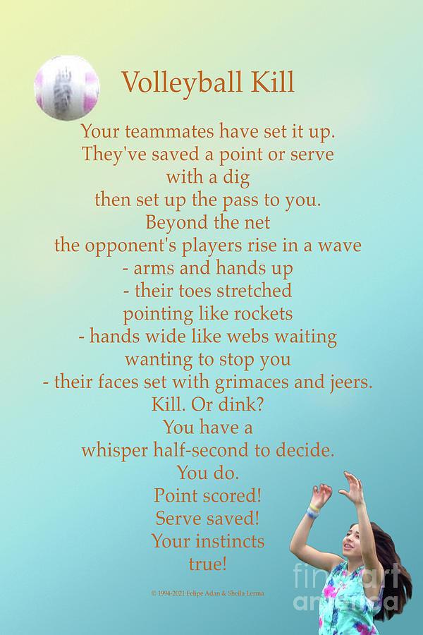 Volleyball Kill Poster Digital Art