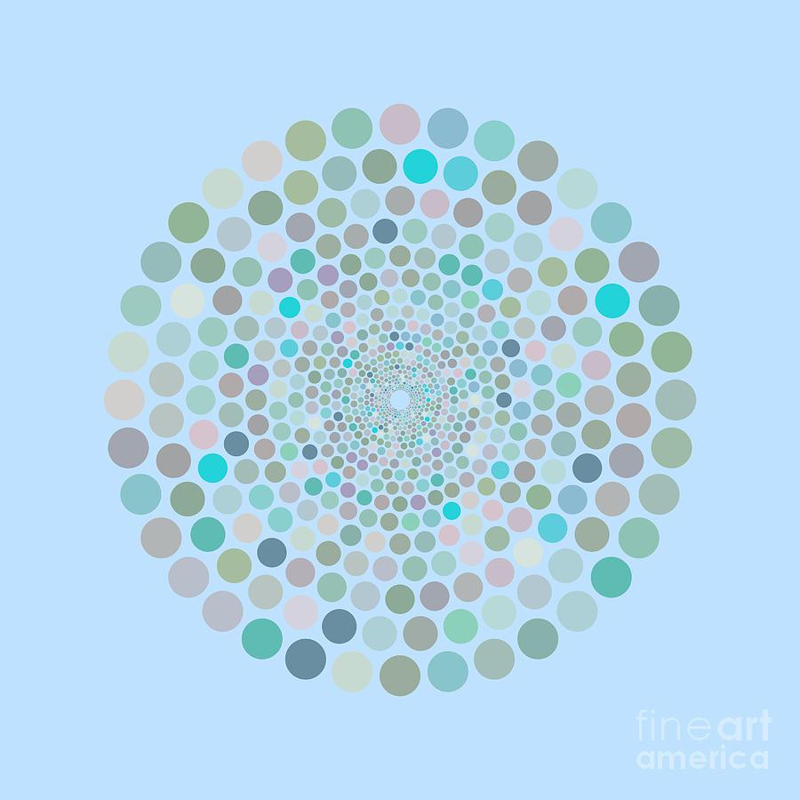 Vortex Circle - Blue Painting