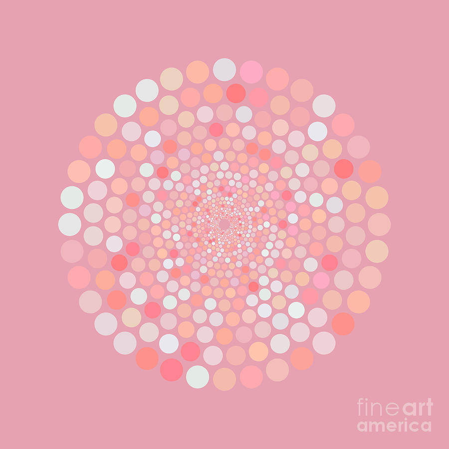 Vortex Circle - Pink Painting