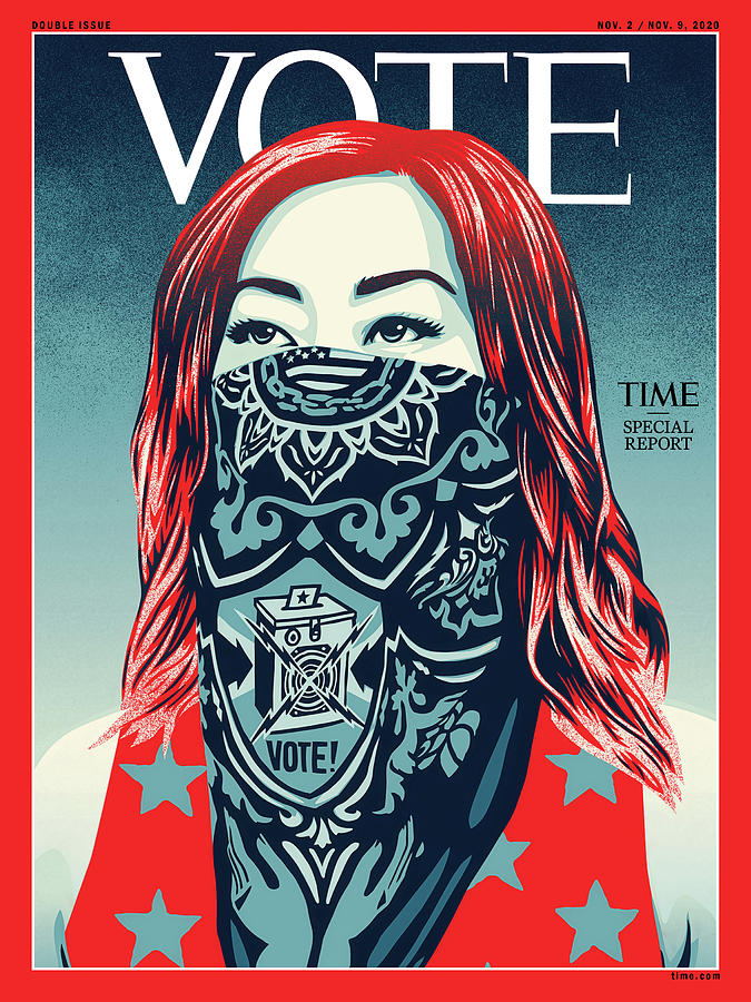 Vote Photograph - Vote 2020 by Illustration by Shepard Fairey for TIME
