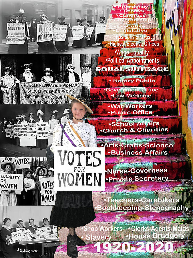 Vote For Women Mixed Media