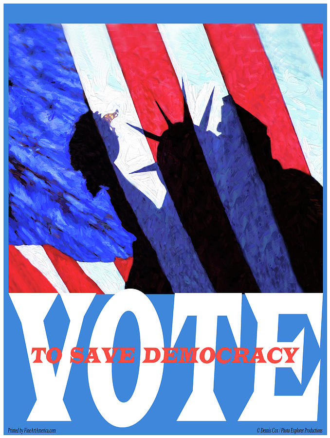 Vote Poster Mixed Media
