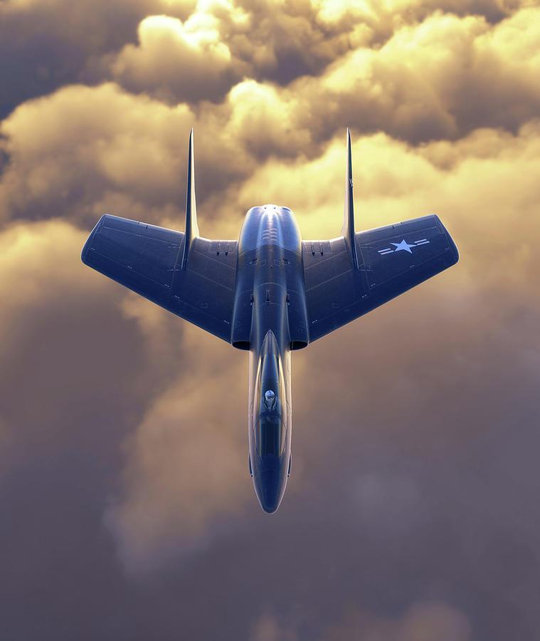 Cutlass Digital Art - Vought Rocket by Hangar B Productions