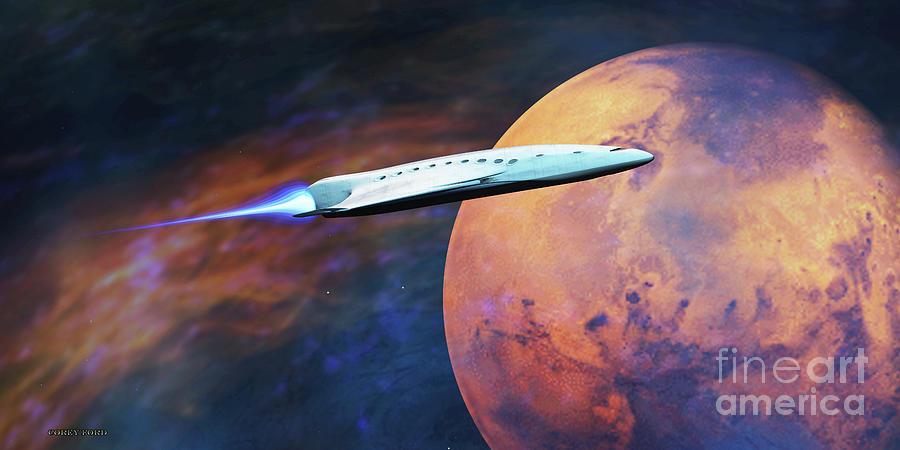 Voyage To Mars Digital Art
