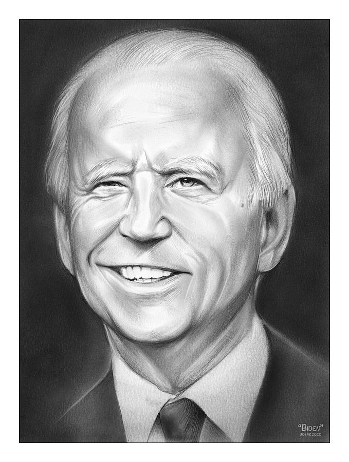 Joe Biden Drawing - VP Biden by Greg Joens