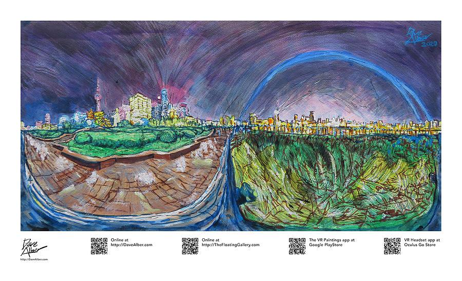 Shanghai Bund Painting - VR Painting, Diurnal Heartbeat, Shanghai, 02 by Dave Alber