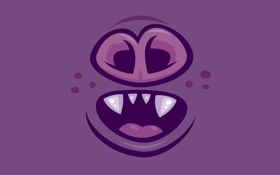 Wacky Vampire Bat Mouth And Nose Digital Art