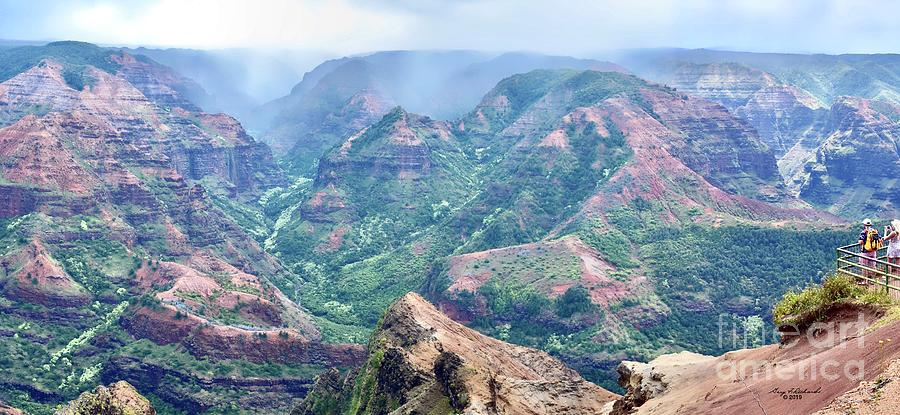 Waimea Canyon Kauai Right Pano by Gary F Richards