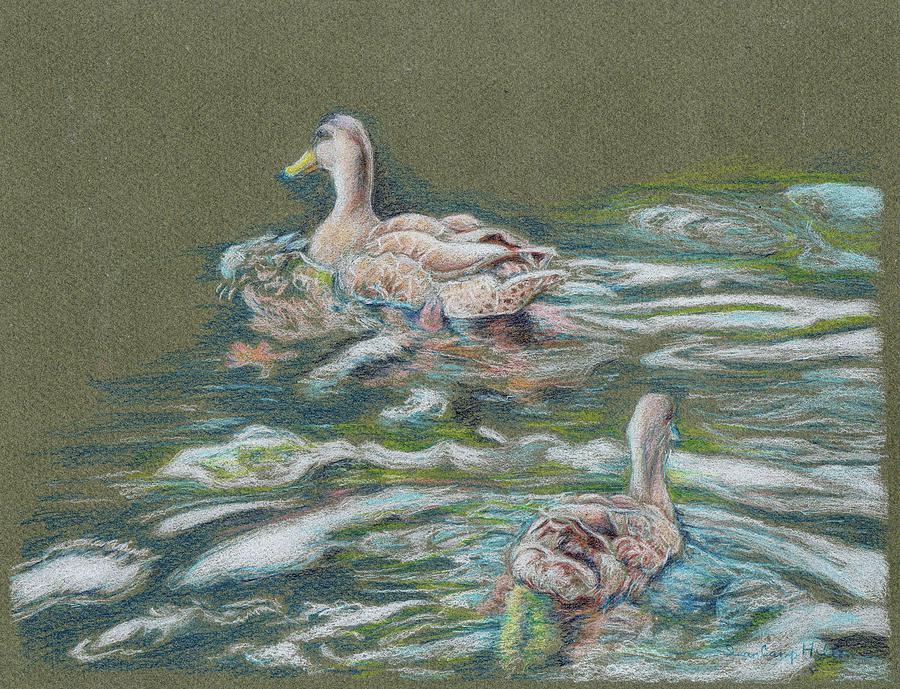Ducks Mixed Media - Wait for Me by Susan Camp Hilton