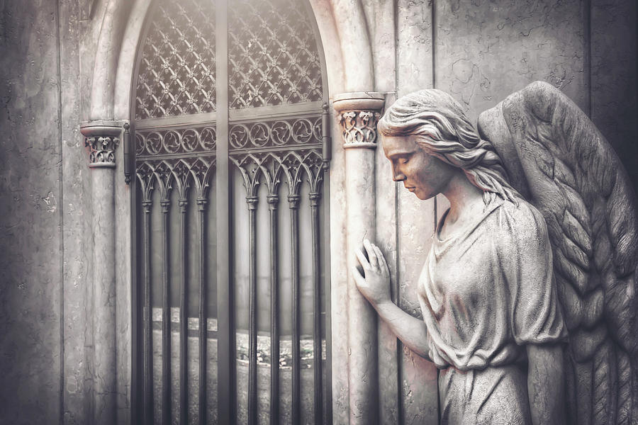 Waiting Angel Historic Cemeteries Of Europe Photograph