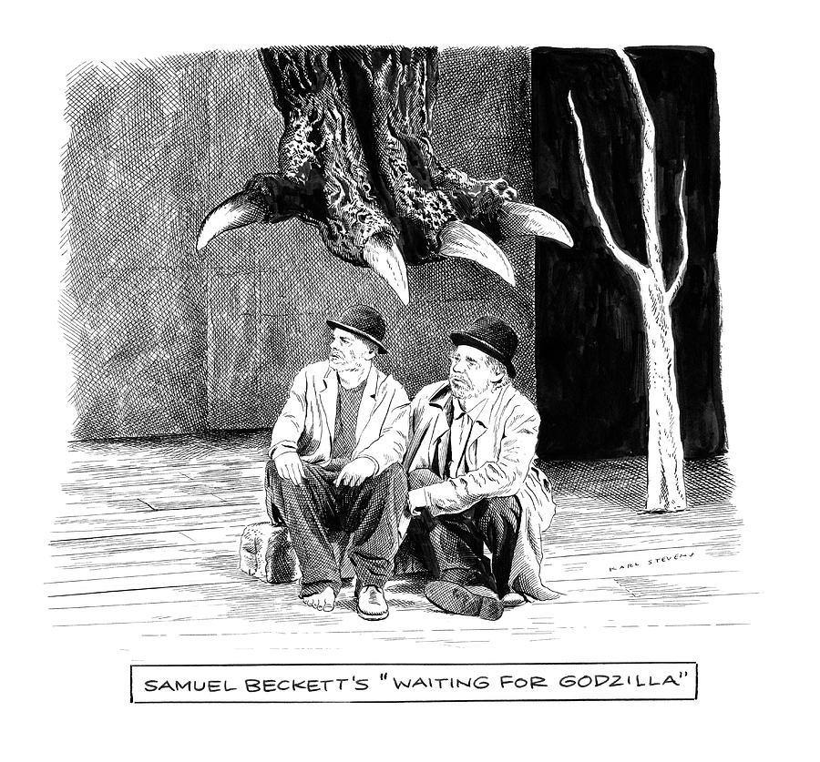 Waiting For Godzilla Drawing by Karl Stevens