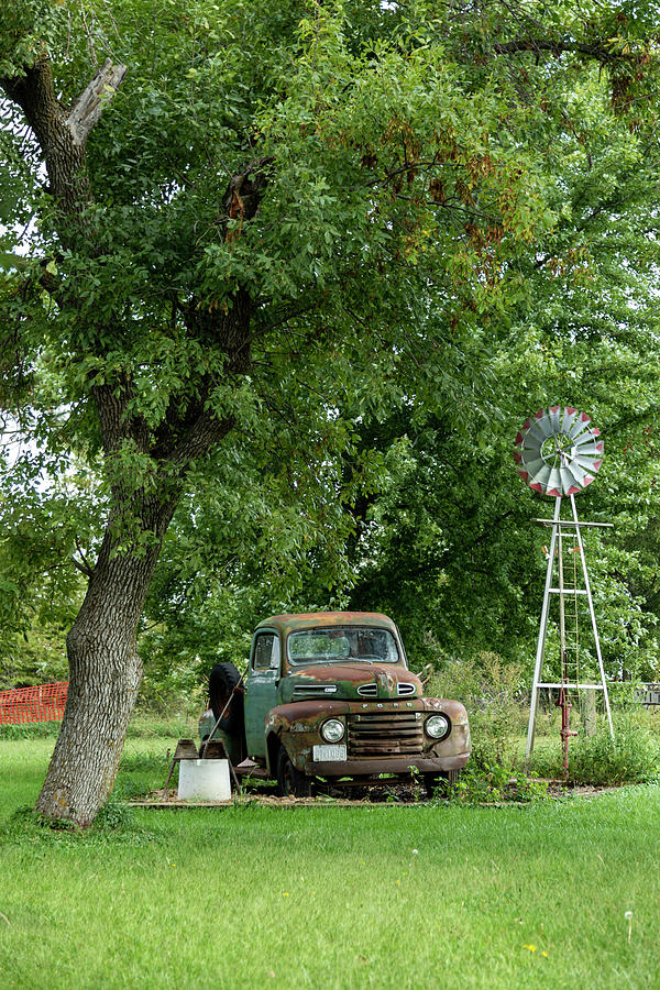 Waiting On The Shade Tree Mechanic Photograph