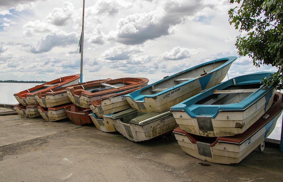 Transport Photograph - Waiting on the Shore, Argentina by Venetia Featherstone-Witty