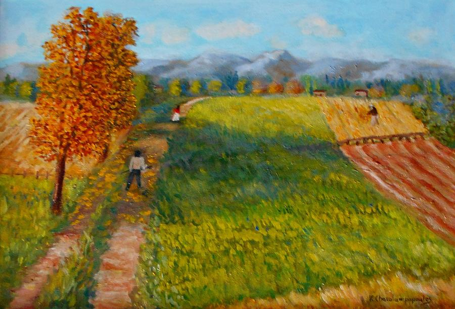 Waiting The Autumn Painting