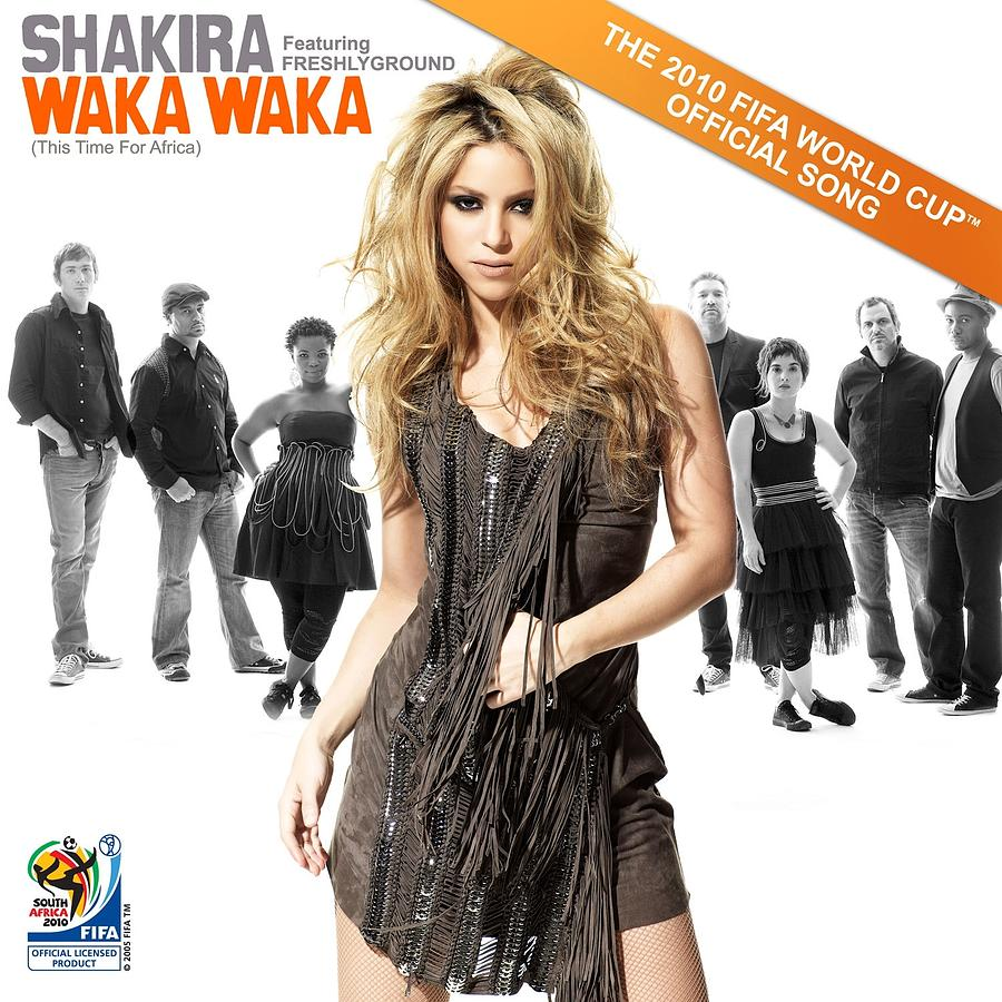 Waka Waka This Time For Africa The Official 2010 Fifa World Cup Tm Song Freshlyground By Shakira Digital Art By Music N Film Prints