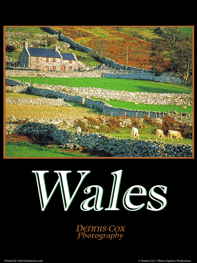 Wales Travel Poster Photograph