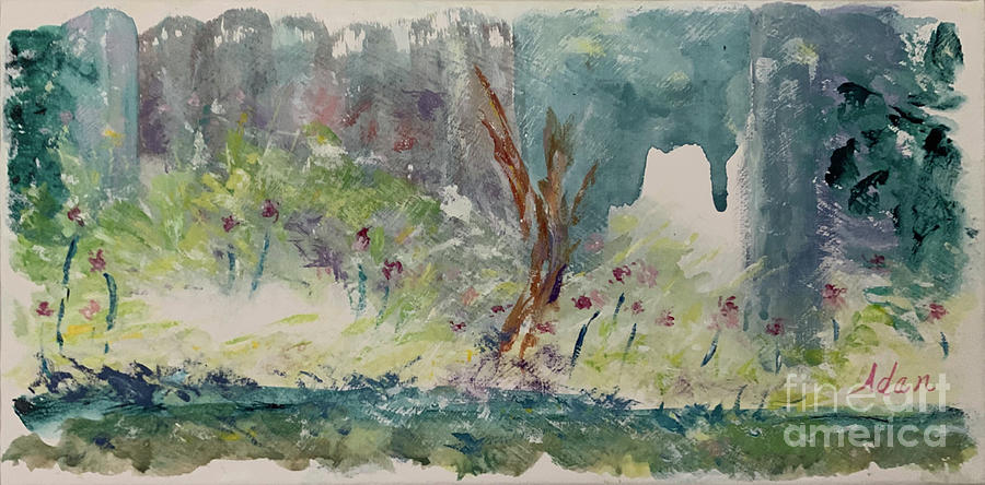 Walk Among The Wildflowers Painting