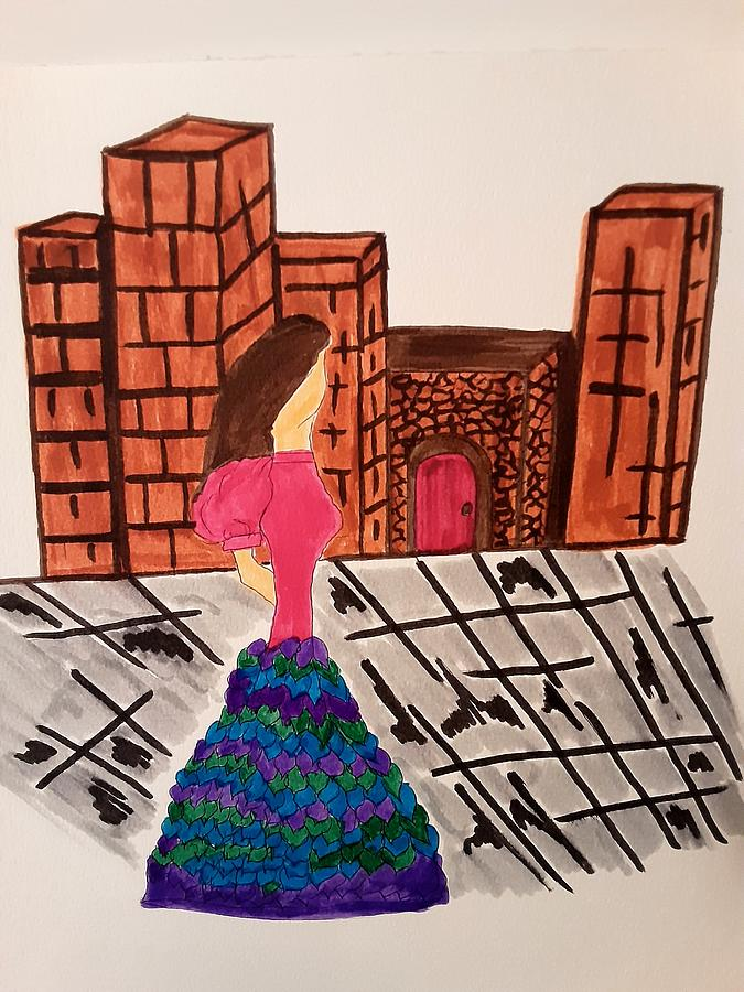 Walk In The City Drawing