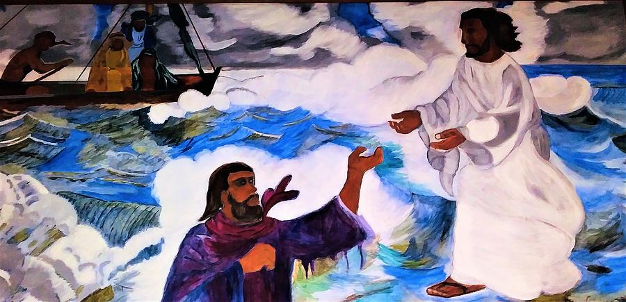 Jesus Walking On Water Painting - Walk of Faith by George Addison