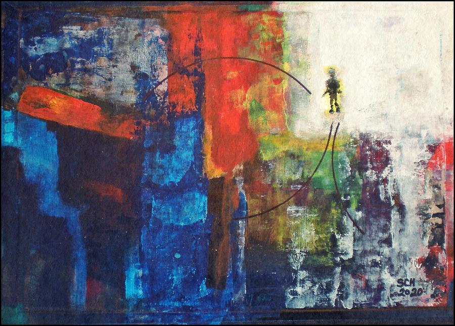 Abstract Painting - Walk On by Scott Haley