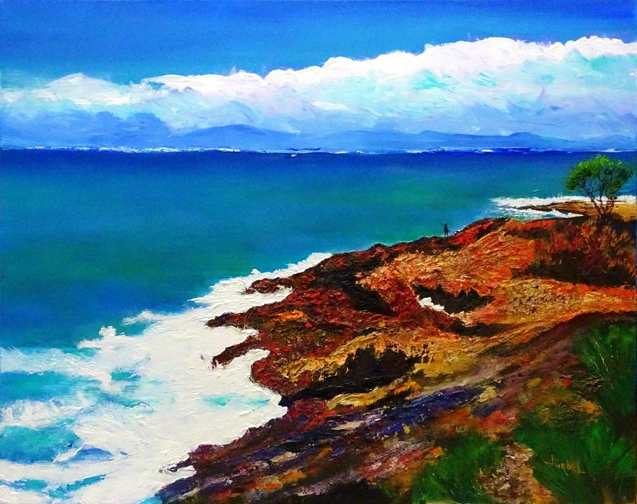 Seaside Painting - Walk with Me by Laura Gabel