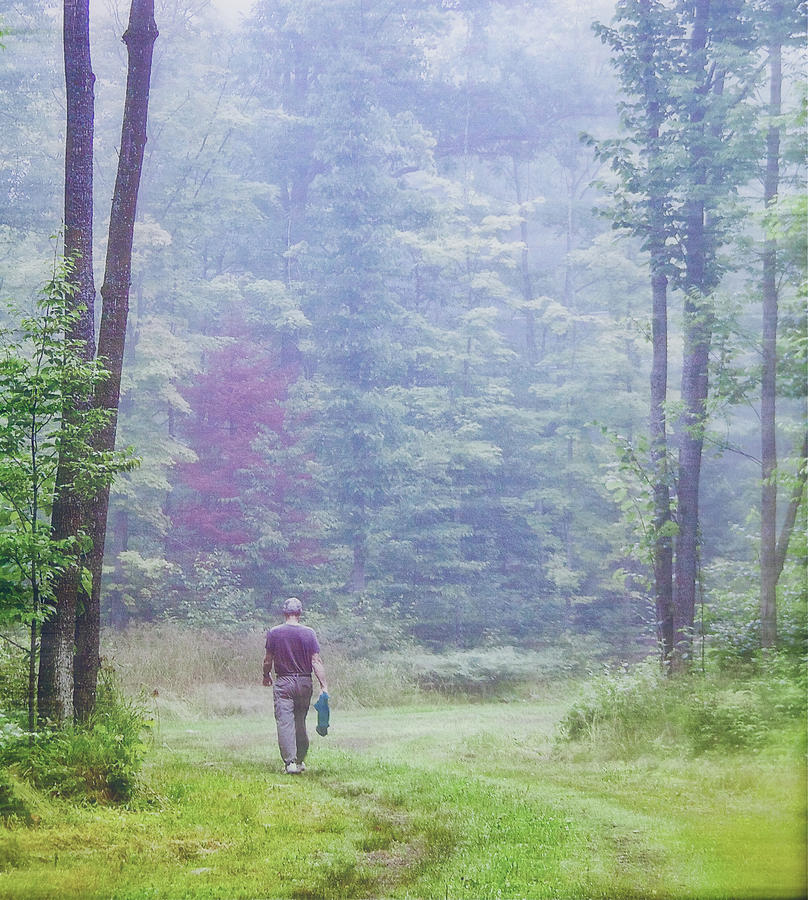 Walking The Narrow Road Photograph