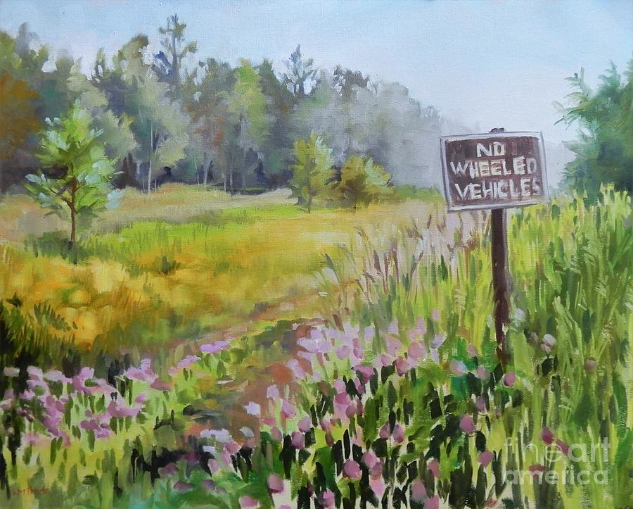 Walking Through Clover Painting