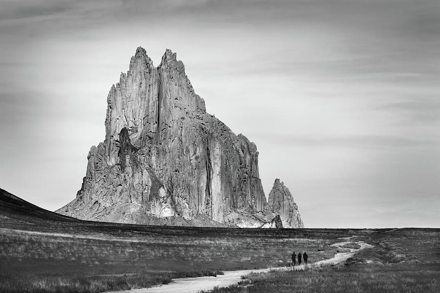 Walking To Shiprock Photograph